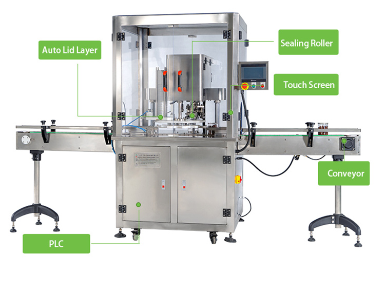 automatic can seamer for food packing